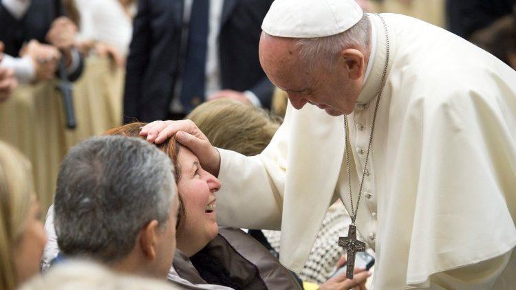 Le Pape François lors de l'audience générale du 27 décembre 2017