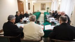 Pope Francis meets with the C9 College of Cardinals in the Vatican