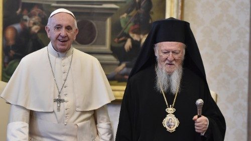 Pope Francis and Patriarch Bartholomew of Constantinople