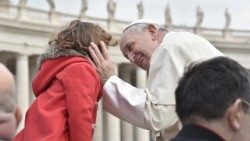 Pope Francis greets the faithful at the Wednesday General Audience