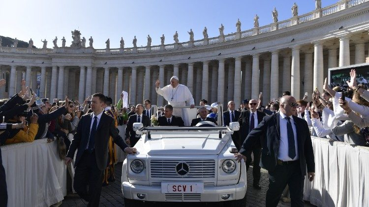 Pope in the Vatican's St. Peter's Square