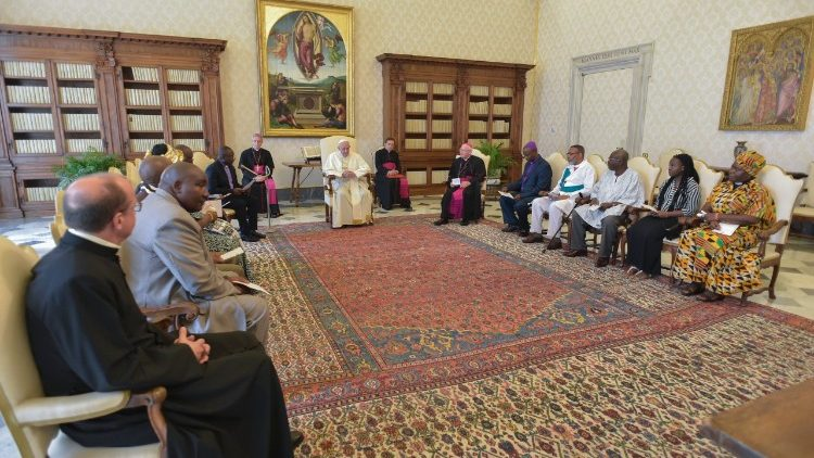 2018-06-23 Papa Francesco incontra la delegazione di African Instituted Churches