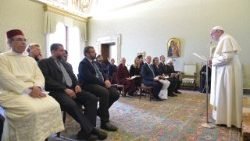 Pope Francis speaks to Emouna Fraternite Alumni