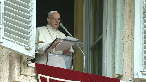 Pope Francis at the Regina Coeli