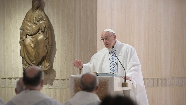Pope Francis at Mass in the Casa Santa Marta