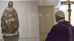 Pope Francis at the chapel in the Casa Santa Marta (file photo)