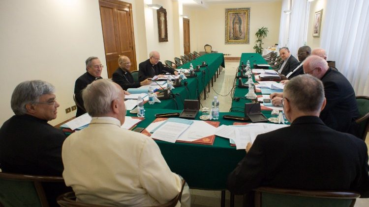 Archive photo of the Council of Cardinals (C9) in session on 12 June, 2018.