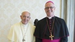 File photo of Pope Francis with Archbishop Nugent