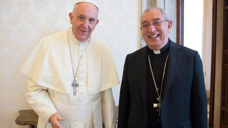 Pope Francis and Cardinal Angelo De Donatis, Vicar for the Diocese of Rome