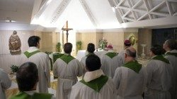 Pope Francis celebrates Mass at the Casa Santa Marta (file photo)