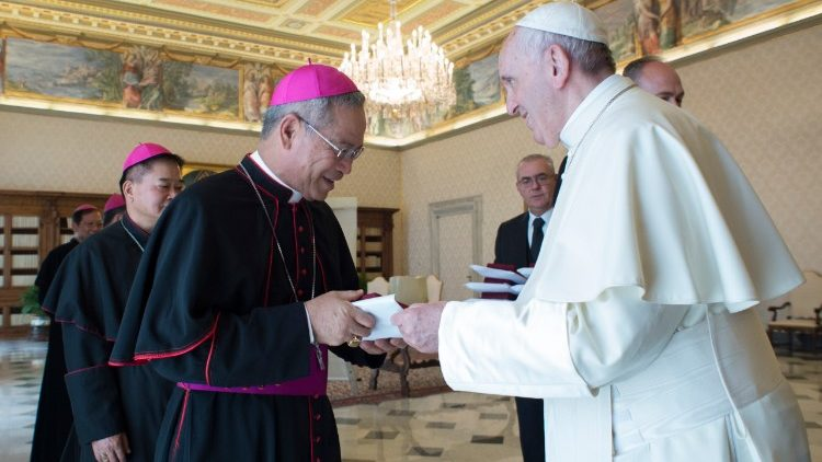 Chinese bishops who came to meet Pope Francis