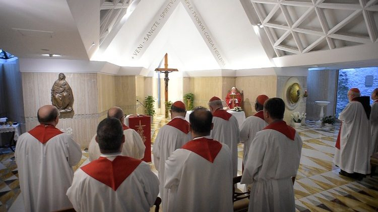 Pope Francis celebrates Mass for the Memorial of St Barnabas at Casa Santa Marta