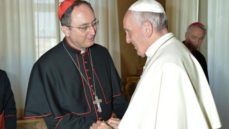El Papa y el Card. Sergio da Rocha