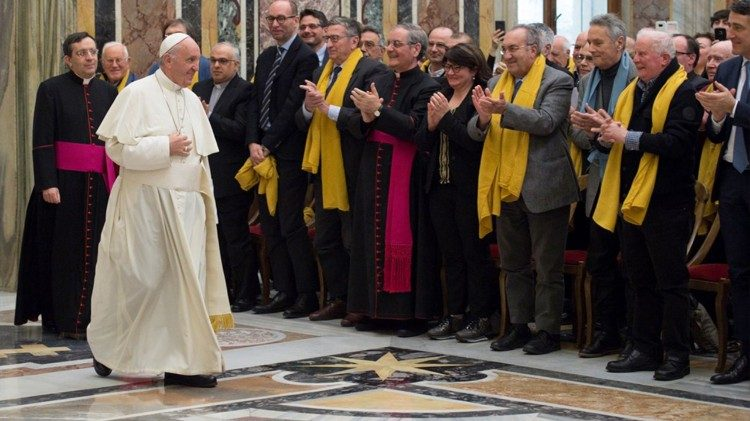 Audience of Pope Francis with Members of Italy's National Usury Council in the Clementime Hall