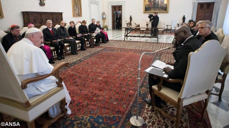 Pope Francis meets the delegation from the Lutheran World Federation