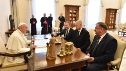 Pope Francis receives in audience the Presidency of Bosnia and Herzegovina