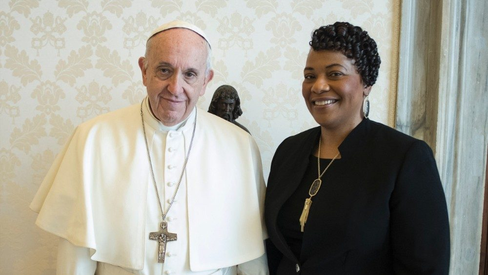 Pope Francis and Bernice Albertine King, Dr. King's daughter