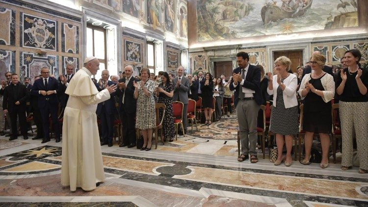 Pope Francis meets with the Forum of Family Associations