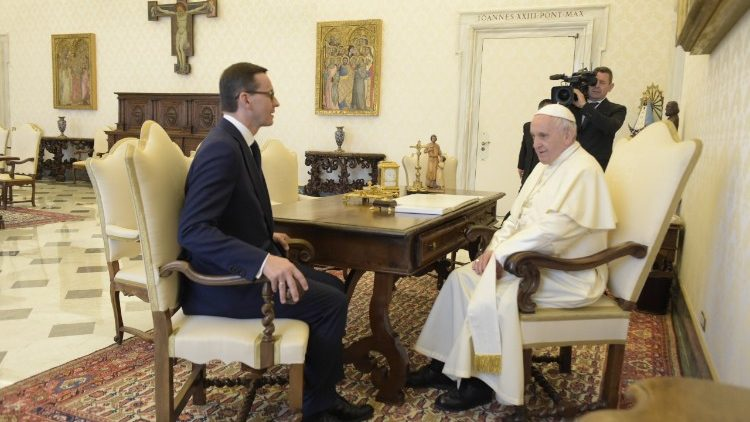Pope Francis meets with Mateusz Morawiecki, Prime Minister of Poland