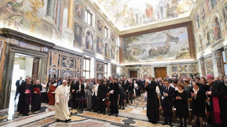 Pope Francis meets with the Emmanuel Community