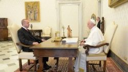 Pope Francis meets Recep Tayyip Erdogan, President of Turkey