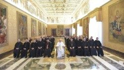 Pope Francis meets with the Pontifical Maronite College