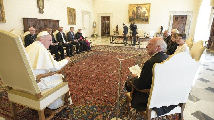 Pope Francis receives in audience a Delegation of the German Evangelical Lutheran Church