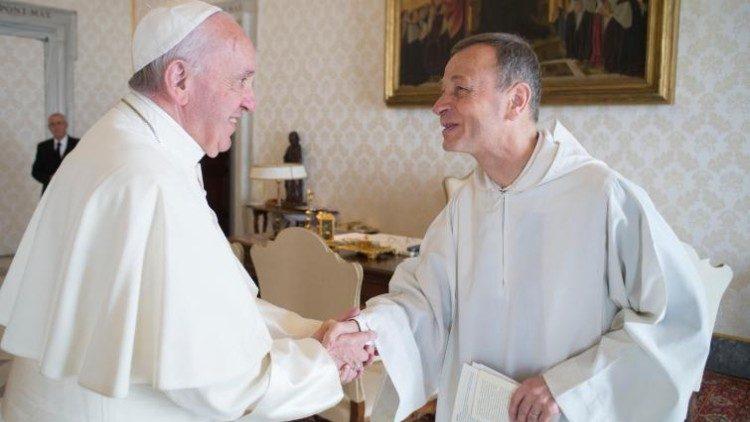 Papa Francesco riceve in udienza Frère Alois di Taize