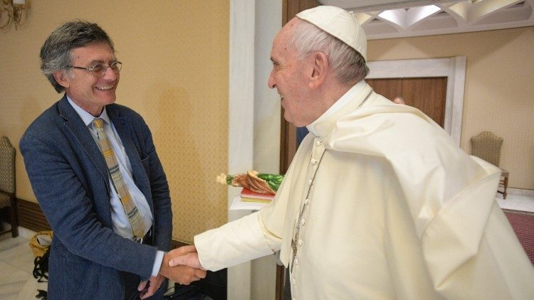 Paolo Ruffini with Pope Francis