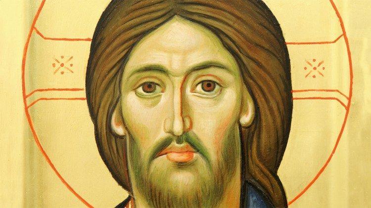 Ícone de Jesus Cristo, pão da vida. Ele é o próprio caminho, a verdade e a vida