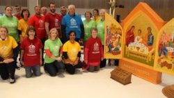"The Holy family as the icon of ""Amoris Laetitia"" at the World Meeting of Families (WMOF), Dublin, Ireland, Aug. 21-26."