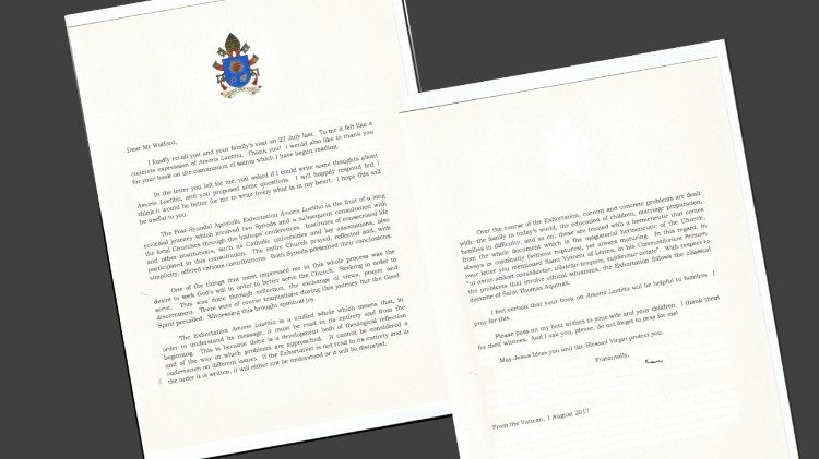 Pope Francis' letter to Stephen Walford