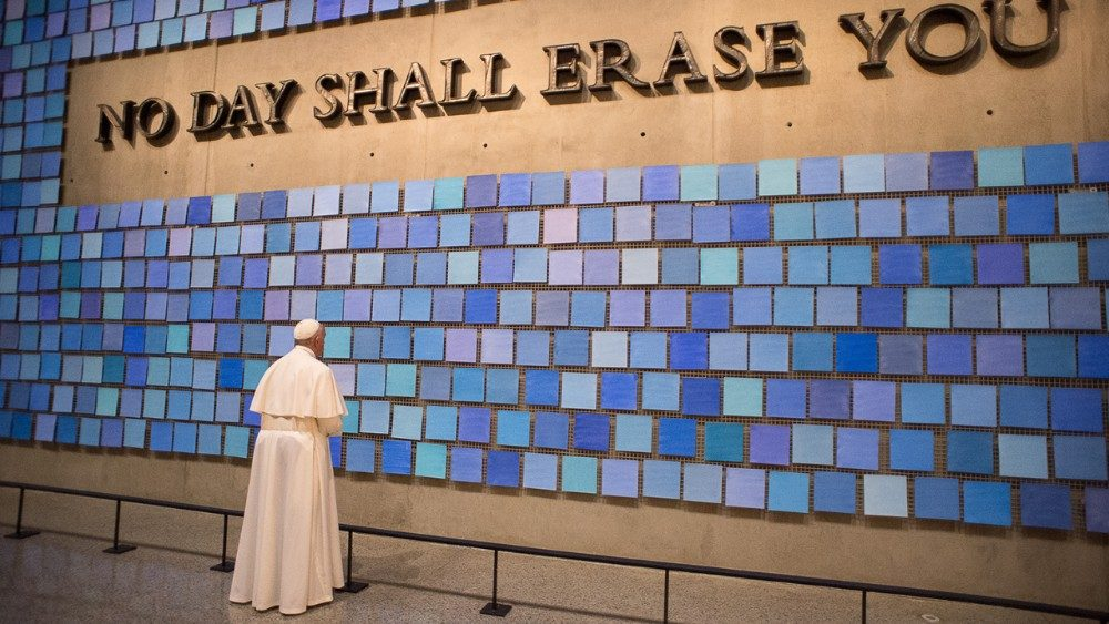 Pope Francis at Ground Zero in New York