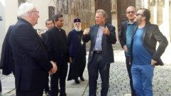 Ecumenical group outside Ausberg Cathedral, September 2018