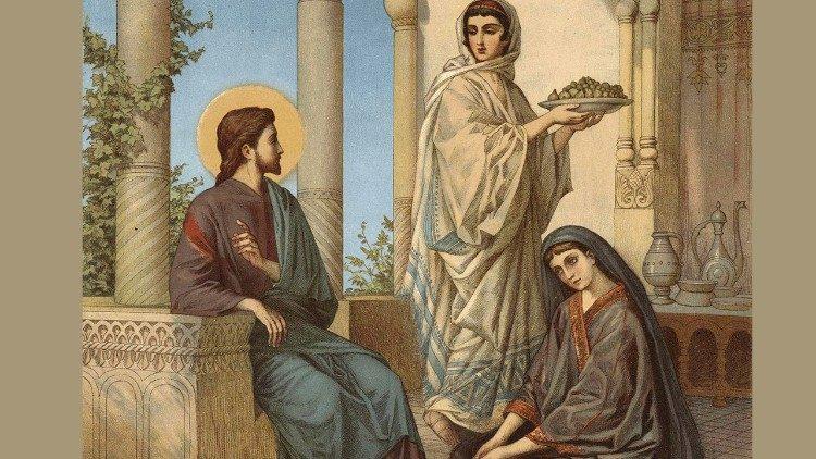 2018.09.11 Gesu nella casa di Maria e Marta di Betania