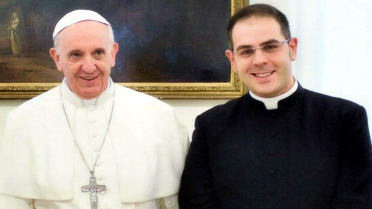 Pope Francis with Fr Pasqualino Di Dio, founder of the Little House of Mercy