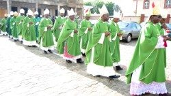 Bishops  in procession during the Plenary Assembly of the Nigerian Episcopal Conference