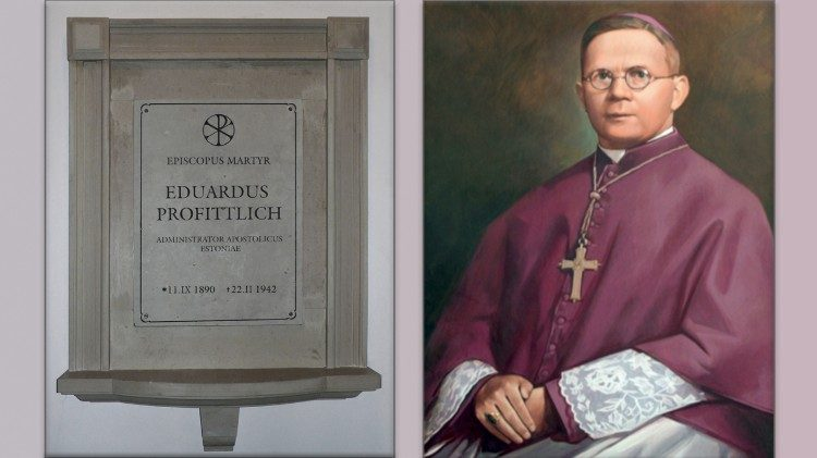 Plaque commemorating Archbishop Eduard Profittlich