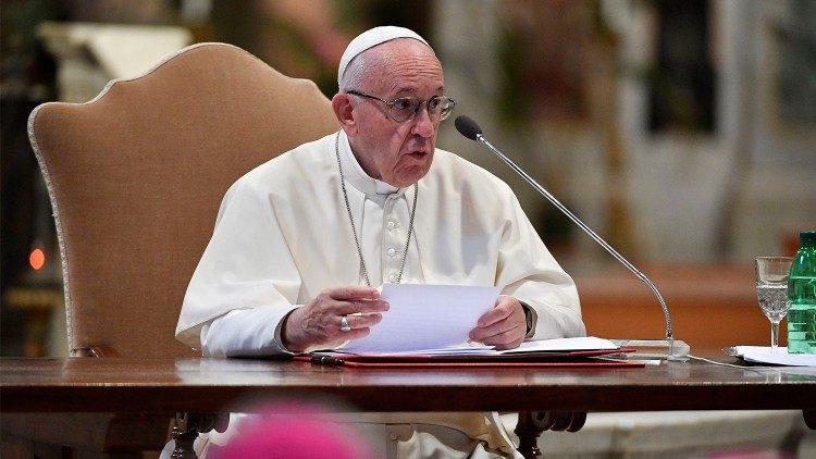 Papa Francisco na Basílica de São João de Latrão