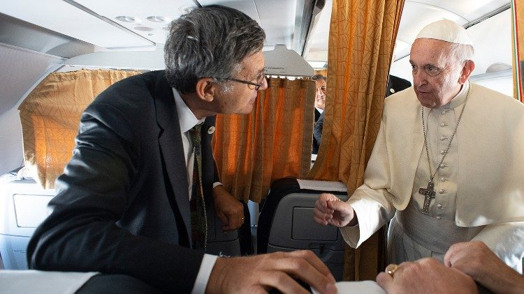 Pope Francis and Paolo Ruffini, Prefect of the Dicastery for Communication