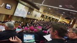 Members of the Synod of Bishops on Young People participate in a Synod Session