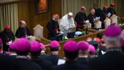 Pope Francis at the Synod on young people