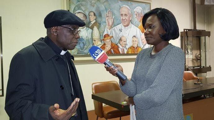 Le cardinal Robert Sarah, interrogé par la Section africaine de Radio Vatican lors du Synode des Jeunes en 2018.