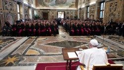 Pope Francis meets seminarians from Northern Italy's Lombardy region