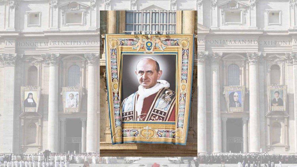 L'immagine di Paolo VI per la canonizzazione
