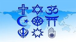 Major religions of the world.