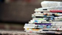 File photo of a stack of newspapers