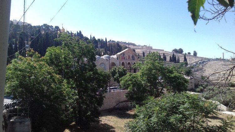A Basílica da Agonia ou Igreja de todas as Nações no Getsêmani, Jerusalém