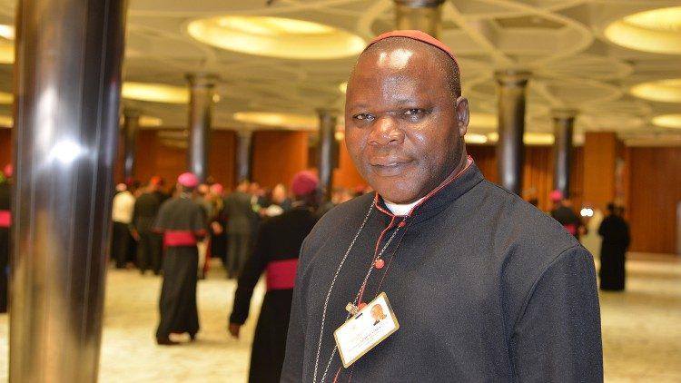 Le cardinal Nzapalainga, ici au Vatican lors du Synode sur les jeunes, en 2018.