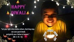CBCI's Diwali greeting card.
